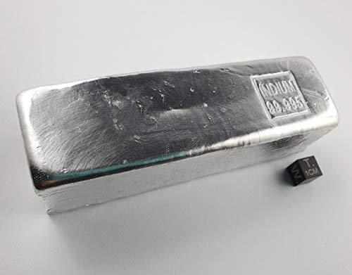 Indiumbarren mit einem Gewicht von mehr als 1 kg