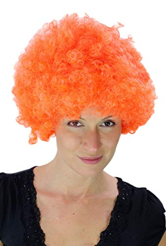 WIG ME UP ® - Peluca Afro Naranja, Tokio, Foxy Brown, Funk, Disco. PW0011-PC24