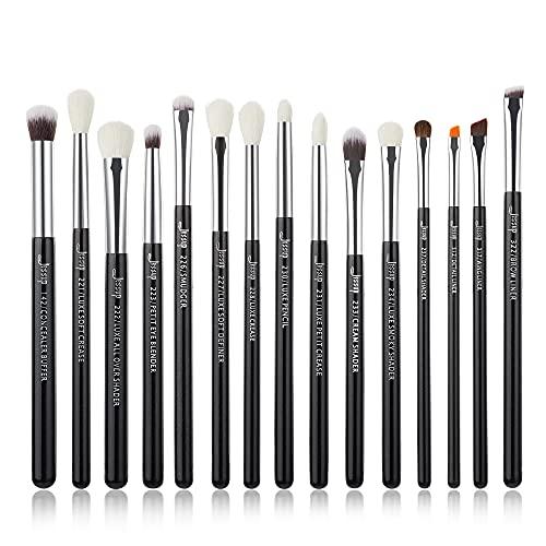 Jessup Augen Makeup Pinsel Set Schminkpinsel Kosmetikpinsel 15 Stück Lidschatten Eyeshadow Brush Professionelle Blender Puder Synthetische Natürliche Haare T177