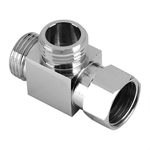 "Nikou 3 Way Diverter - Hose Fitting Tee 1/2"" Brass Chrome T Shape Adapter Connector for Angle Valve Hose, Bath Shower Arm, Toilet Bidet Sprayer Faucet"