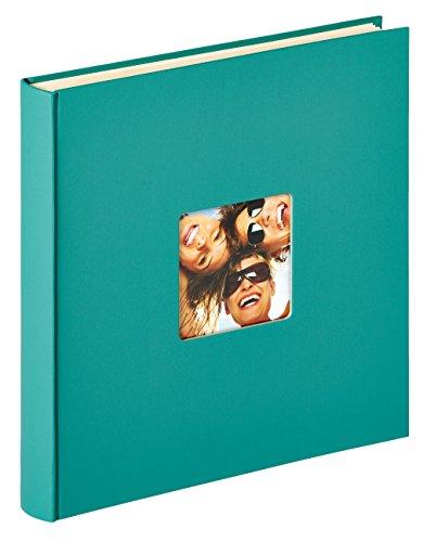 Walther Design SK-110-K Fun, Autoadesivo Album, Carta, Verde Petrolio, 50 Pagine Bianchi, 33 x 34 cm