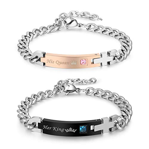 Jovivi 2pcs His Queen Her King Stai…
