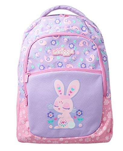 Smiggle Backpack Classic - Deja Vu (Lilac & Pink Bunny)