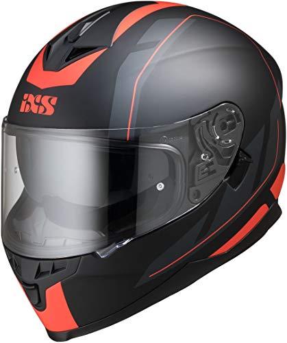 IXS X14070-M32-XL Casco Moto , Multicolore (Nero Opaco-Rosso), XL