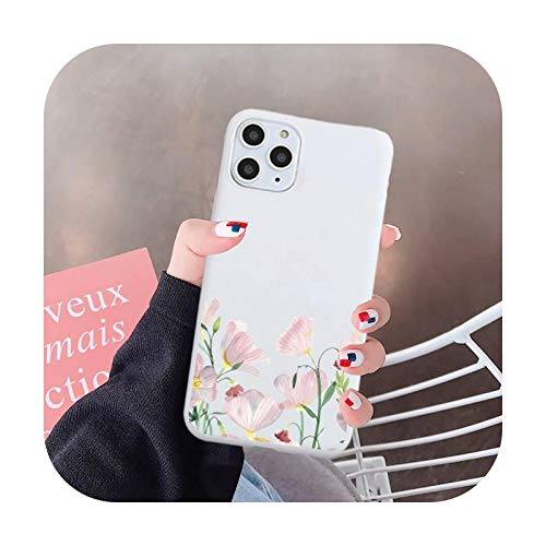 Flor diseño de moda patrón de lujo teléfono caso caramelo color para iPhone 6 7 8 11 12 s mini pro X XS XR MAX Plus-a6-iphone 12 mini