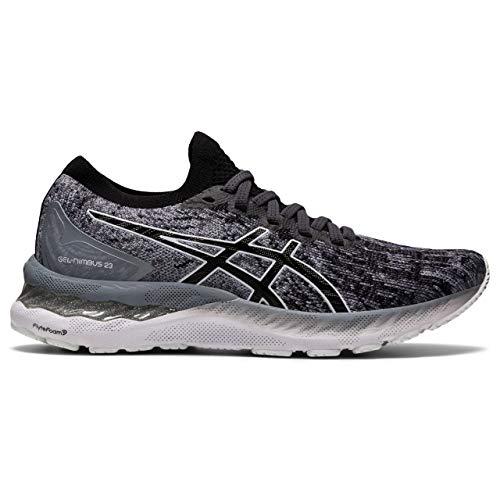 Asics Gel-Nimbus 23 Knit, Road Running Shoe Mujer, Sheet Rock/Black, 44 EU