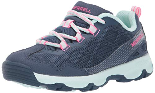 Merrell Kid's Unisex Chameleon 2.0 Lace-Up, Navy/Turquoise,1 Big Kid