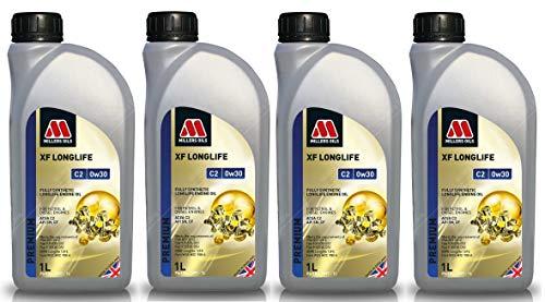 Millers Oils XF Longlife 0W30 C2 SN Huile moteur entièrement synthétique 4 l