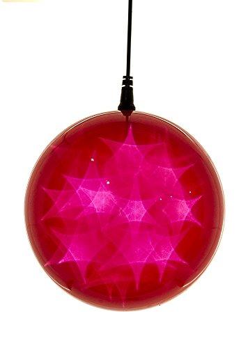 Hi-Line Gift Ltd Hologram Star Ornament, Red