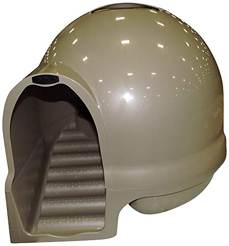 Petmate Booda Dome Clean Step Cat Litter Box 3 Colors, Titanium