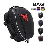 Motorcycle Seat Tail Bag Backpack - Dual Waterproof Luggage Bag Seat Bag Motorbike Saddle Bags Multifunctional Bags(Red)