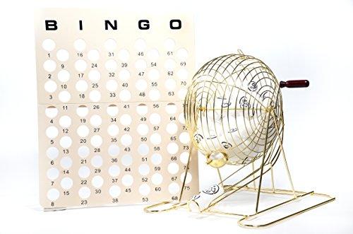 Regal juegos gran profesional latón ping pong bola jaula de Bingo
