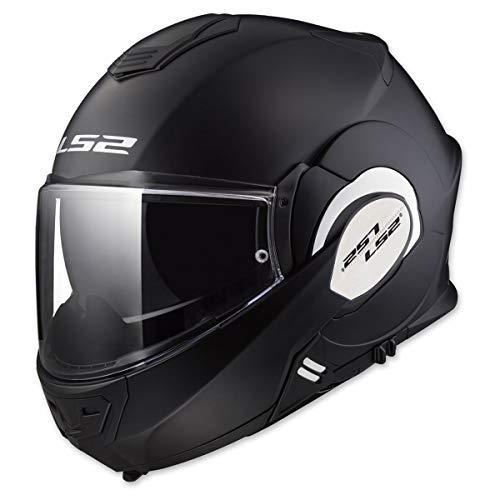 LS2 Helmets Modular Valiant Helmet (Matte Black - Medium)