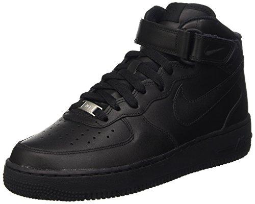 Nike Damen Wmns Air Force 1 '07 Mid Basket, Schwarz (Black/Black), 36 EU