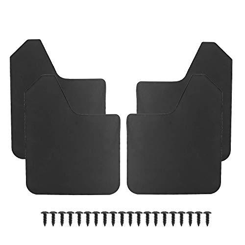 EBTOOLS Auto Schmutzfänger schwarz, 4 Stück Universal Kotflügel Abdeckung Schmutzfänger Schutzbleche Fit für MF12-BAS-BLK, Spritzschutz Kotflügel Schutzblech
