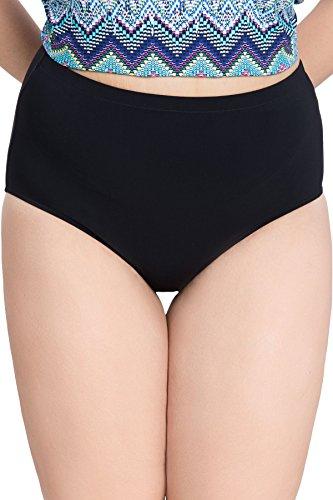 Profile by Gottex Women's Plus-Size Basic High Waist Swimsuit Bottom, Tutti Frutti Black, 16W