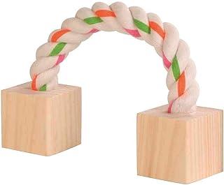 Trixie Cuerda de Juego con Bloques de Madera para Animales pequeños, 20 cm, 4 Unidades