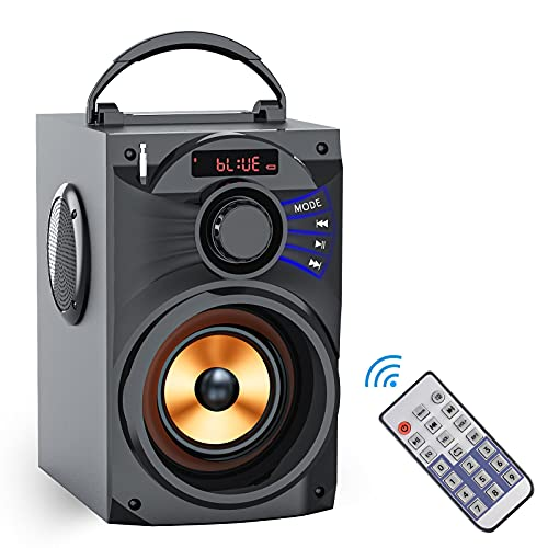 Portable Bluetooth Speaker Subwoofer Heavy Bass Wireless Speakers Outdoor/Indoor Party Speakers Line in Speakers Support Remote Control FM Radio TF Card Speaker for Home Phone Computer Travel