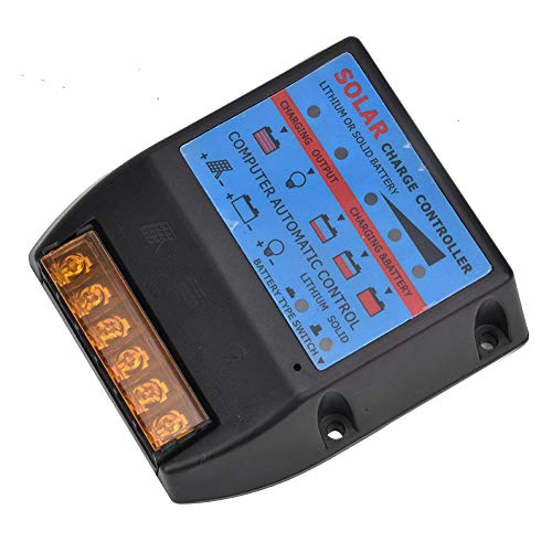 Alomejor 12V / 24V batterijregelaar zonnelaadregelaar solar laadregelaar intelligente regelaar met display
