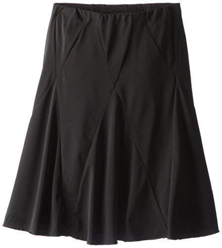 Amy Byer Girls' Big Picture Perfect Diamond-Seamed Skirt, Black, Medium