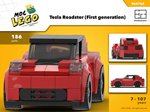 Tesla Roadster (First generation) (Instruction Only): MOCLEGO (English Edition)