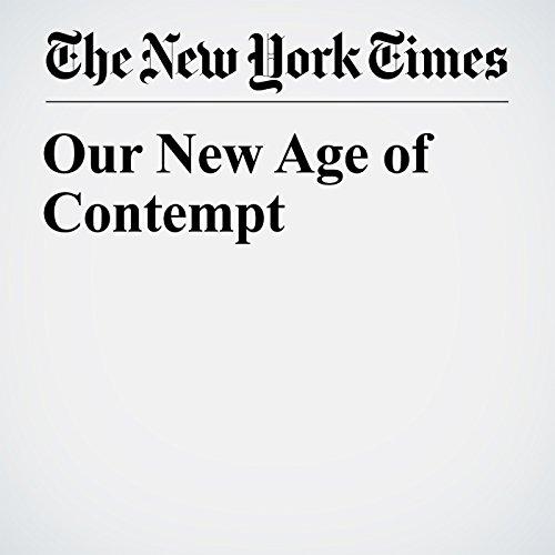 Our New Age of Contempt copertina