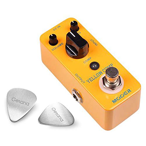 Mooer Guitar Effect Pedals MCS2 Yellow Compression With 2 Getaria Guitar Picks