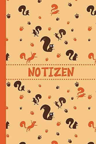 Notizen: Eichhörnchen Notizbuch   Journal   To Do Liste mit Eichhörnchen Muster auf dem Cover - über 100 linierte Seiten mit viel Platz für Notizen - ... Geschenkidee für Kinder und Eichhörnchen Fans