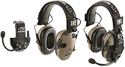 HQ ISSUE Walker's Razor Slim Low Profile Electronic Ear Muffs with Walkie Talkie, Shooting Hearing Protection 2 Pack