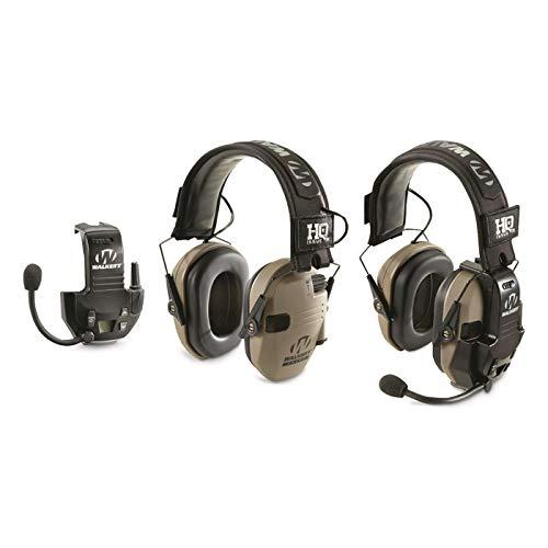HQ ISSUE Walker's Razor Electronic Ear Muffs with Walkie Talkie, 2 Pack, Flat Dark Earth