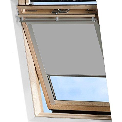 Mctech - Techo de persianas enrollables con protección solar, oscurecimiento térmico, metal, gris, M04/304