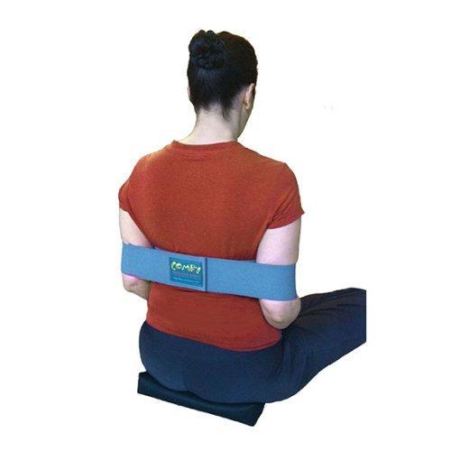 Comfy Shoulder Elastic Band - Ergonomic Pain Free Posture Shoulder Support Strap - Great Stretch Tool for Meditation, Exercises, Sitting or Standing by Natural Posture Solutions, LLC