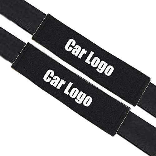 2 Piezas almohadillas protectoras para cinturón de seguridad, Almohadillas Protectores de Coche Hombro, para Niños y Adultos,Negro (BM-W- M)