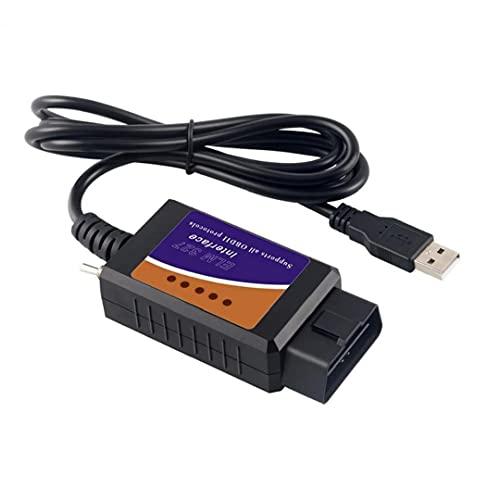 FeelMeet 1pc Dispositivo OBD2 del USB ELM327 el Interfaz Compatible con HS-Can/MS-Puede conmutar Multi usos ELMconfig OBD2 escáner para vehículos