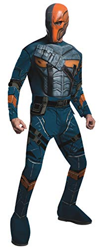 Rubie's unisex adult Batman: Arkham City Deluxe Muscle Chest Deathstroke sized costumes, As Shown, Small US