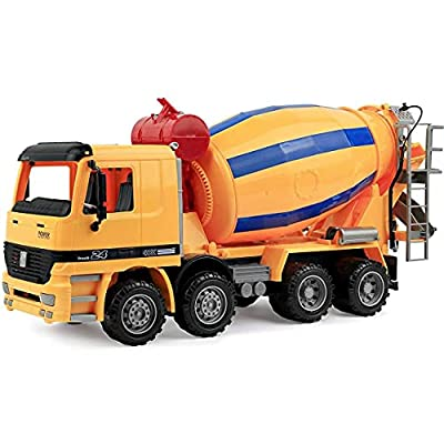 Cement Mixer Truck Construction Vehicle Toy for Kids
