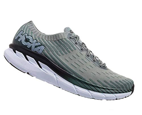 Price comparison product image HOKA ONE ONE Men's Clifton 5 Knit Silver Pine / Chinois Green 8.5