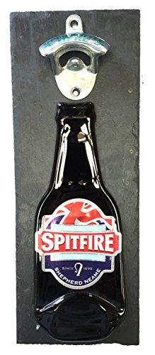 BottleClocks Spitfire Bier Flaschenöffner, Wand montiert auf Schiefer Unterstützung hergestellt großen Artikel für Ihr Bier Buddies