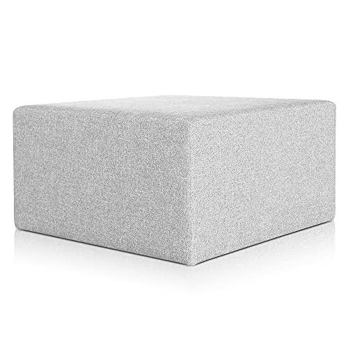 divano isola DESHOME Pouf poggiapiedi 83x83x44 cm Artigianale Made in Italy Sgabello per divano soggiorno camera da letto - Puff Minerva (Grigio)
