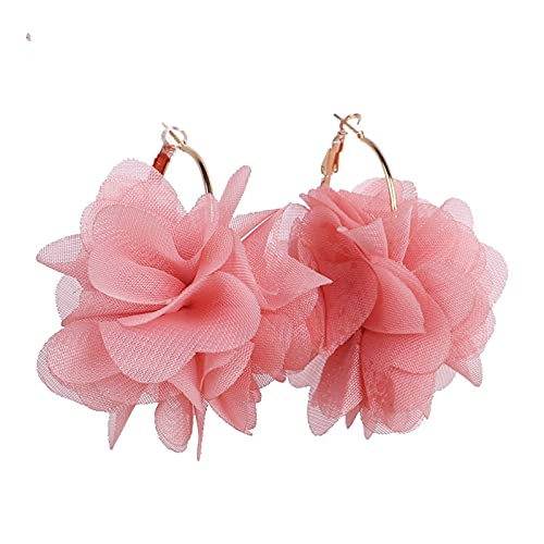 allforyou Declaración de Moda Coreana Flores Mujeres Pendiente Clásico étnico Hyperbole Pendiente Irregular Redondo Verano Joyería de Moda