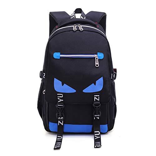GDMXYD Wanderrucksack,Herren Damen Wasserdichter Rucksack Trekkingrucksack Reiserucksack OutdoorComputertasche, Schultasche, Outdoor-Rucksack, Blaue Augen