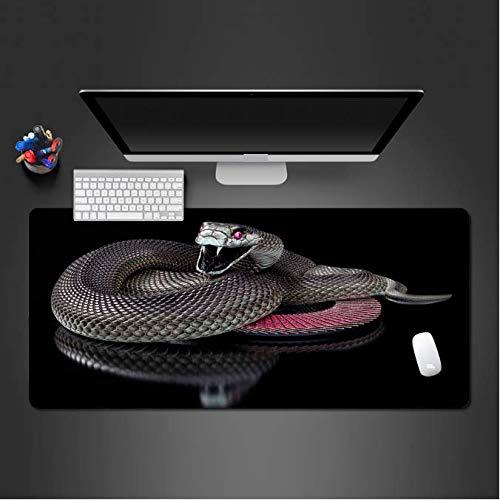 Super leuke slangen-muisonderlegger spel-accessoires beroepscomputertoetsenbord muizen bureau matten 30 x 80 cm