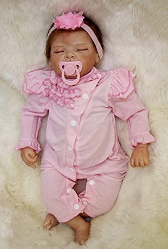 MAIHAO 22zoll 55cm Reborn Babys Madchen lebensechte babypuppen realistische schlafend silikon Puppen wie echtes Toddler Puppe Augen zu günstig Junge