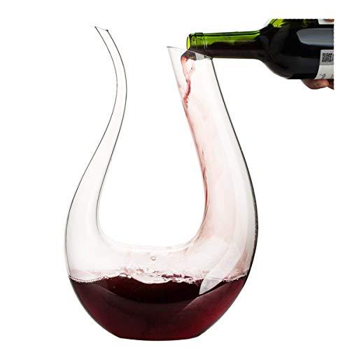 Thick Arpa de vino Decantador, Mano café vidrio, decantador de vino decanting-gaogao, Transparente, 1