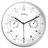 Technoline WT 653 - Reloj de pared (cuarzo, con temperatura y humedad)