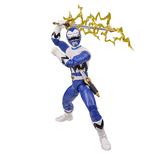 Power Rangers Lightning Collection Lost Galaxy Blue Ranger 6-Inch Premium Collectible Action Figure Toy with Accessories