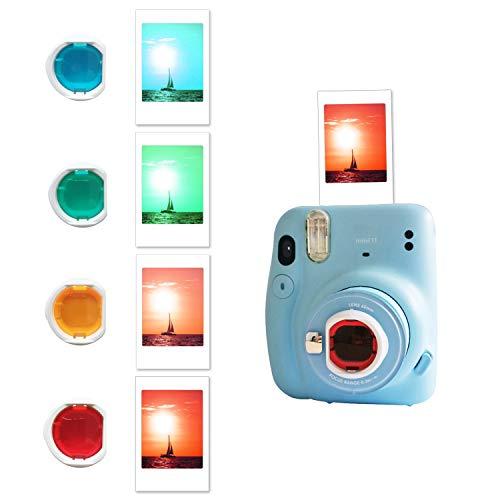 Leebotree Sofortbildkameras Kamera Zubehör Kompatibel mit Instax Mini 11 Sofortbildkamera beinhaltet Tasche/Album/Filmrahmen/Rahmenaufkleber/Eckaufkleber (Sky Blue)