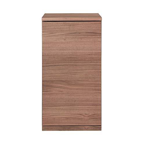 無印良品 木製キャビネット・木扉・スリム・ウォールナット材 幅44×奥行44×高さ83cm 82219012