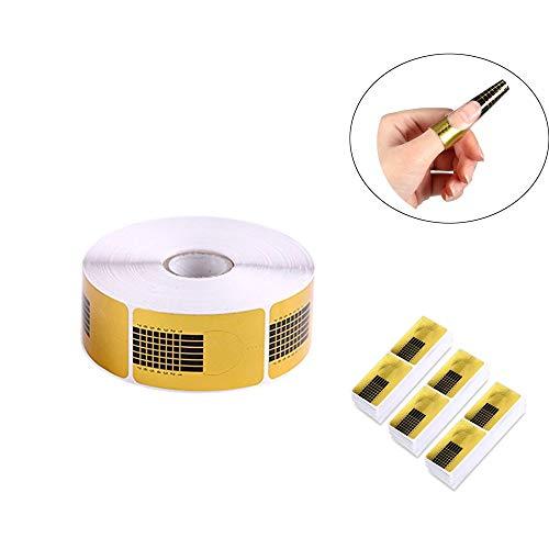 Shuny 500 Piezas Bandeja de papel de uñas