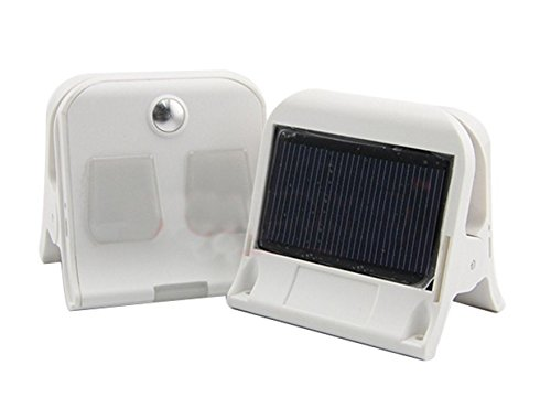 Pilotlights.net Solar Portable LED Clip-on Light Rechargeable USB Lantern Outdoor Camp Garden Lamp